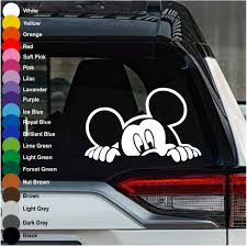 Mickey Mouse Peeking Car Decal Crazy4decals