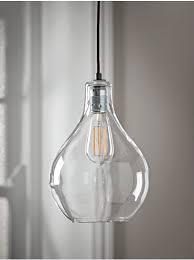 glass teardrop pendant light meser