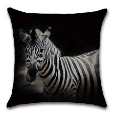 African Animals Zebra Printed Cushion Cover Decoration For Home House Sofa Chair Seat Room Pillowcase Kids Gift Friend Present Cushion Cover Aliexpress