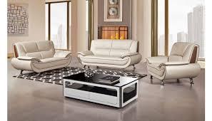 shania genuine leather modern sofa