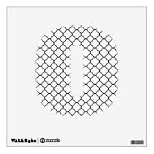Quatrefoil Clover Pattern Black Amp White Wall Decal Wall Decal Pattern Wall Decals Custom Wall Decal