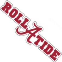 Alabama Crimson Tide Die Cut A Roll Tide Logo Vinyl Decal 10
