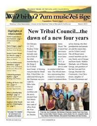 March 2015 - Newsletter by Washoe Tribe of Nevada and California - issuu