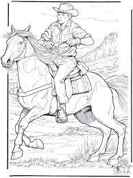 Cowboy Met Paard Kleurplaten Paarden