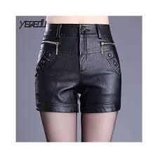 6301 spring autumn pu shorts women