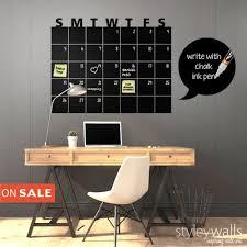 Chalkboard Calendar Wall Decal Chalk Board Wall Calendar Vinyl Art Styleywalls On Artfire