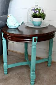 diy painted coffee table to add a pop