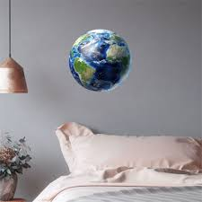 30cm 3d Planet Earth Wall Stickers Decal For Baby Kids Bedroom Fluorescent Wall Sticker Removable Glow In The Dark Home Decor R2