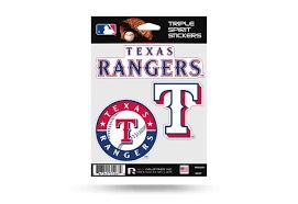 Texas Rangers Window Decal Set Sticker Officially Licensed Mlb Custom Sticker Shop