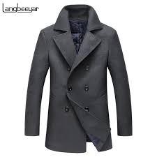 Satın Al Moda Marka Giyim Erkek Yün Ceket Kruvaze Erkek Bezelye Ceket Iş  Rahat Yün Karışımları 2018 Kış Ceket Adam Siper, $97.03 | DHgate.Com'da