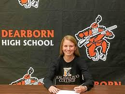 Dearborn High's Abby Stewart signs to join the swim team at Kalamazoo  College   MIPrepZone   pressandguide.com