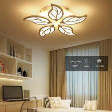 Đèn LED Ốp Trần - Đèn trần trang trí phòng khách, phòng ngủ hình lá 3 chế  độ sáng, kèm điều khiển từ xa