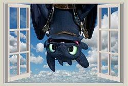 How To Train Your Dragon Toothless 3d Wall Decal Sticker 18 24or 36 12
