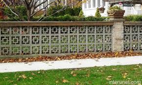 Brick Column Decorative Cement Blocks Fence Picture Interunet
