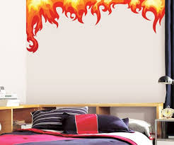 Flames Wall Decal Fire Flame Wall Decal Kids Playroom Etsy