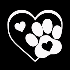 This Listing Is For A Cute Heart And Paw Vinyl Decal Perfect For Any Animal Lover The Decal Is Made Of High Quality Outdoor Vinyl Decals Silhouette Clip Art Vinyl Decals