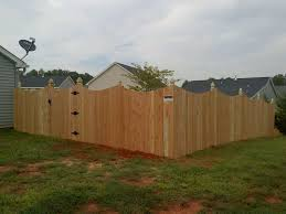6 Foot Scalloped Wooden Privacy Fences With Gothic Posts