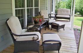front porch patio furniture light warm