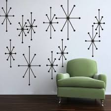 Inspiration Atomic Starbursts Wall Decal Geometric Living Room Vinyl Mural Decor For Sale Online Ebay
