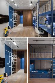 This Kids Bedroom With A Lofted Play Space Climbing Gym And Built In Desk Will Make Their Friends Jealous