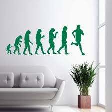 Wall Decal Human Evolution Anatomy Man Cave Evolve Exrtreme Etsy