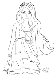 tô màu búp bê barbie - byhien