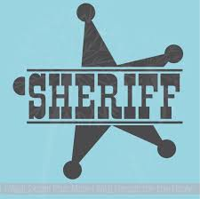 Sheriff With Star Western Wall Decals Cowboy Wall Stickers Quotes