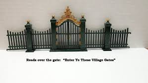 Christmas Village Wrought Iron Fencing W Ornate Gate Dept 56 Metal Fencing Christmas Village Acc Wrought Iron Fences Iron Fence Christmas Village Accessories