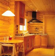 log cabin painted kitchen cabinets