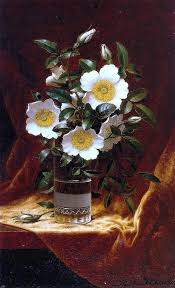Martin Johnson Heade Cherokee Roses In A Glass Wall Decal Print Contemporary Wall Decals By Art Megamart