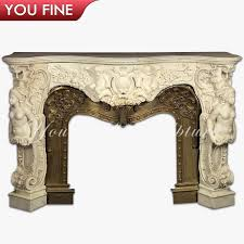 wood burning stove carved marble