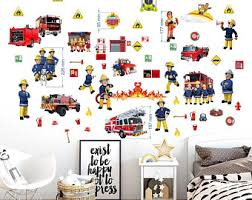 Fireman Wall Decal Etsy