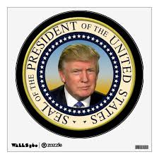 President Trump Photo Presidential Seal Wall Decal | Zazzle.com