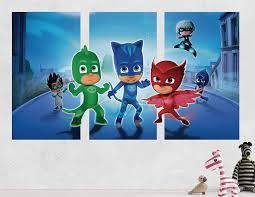 Amazon Com Pj Masks Gekko Catboy Owlette Battle 3d Sticker Wall Decal Smashed Vinyl Decor Mural Kids Broken Wall 3d Designs Jh58 Medium Wide 48 X 28 Height Home Kitchen