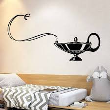Jasmine Lamp Gin Wall Sticker Vinyl Home Decoration For Kids Room Boys Girls Bedroom Nursery Decals Cartoon Pattern 2021 Wall Stickers Aliexpress
