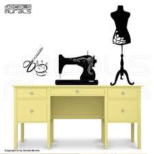 Wall Decals Sewing Room Decor Sewing Machine Mannequin Art Etsy