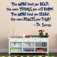 Dr Seuss Reading Quote Vinyl Wall Decal The More That You Read The More Places You Ll Go Customvinyldecor Com