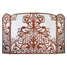 small rococo screen for tiny fireplaces