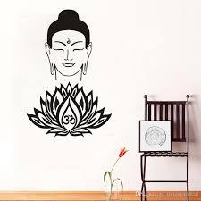 Kindly Buddha Face Wall Decals Vinyl Om Symbol Lotus Flower Wall Stickers Home Decor Interior Design Bedroom Studio Window Art Murals Wall Decals Large Wall Decals Murals From Moderndecal 7 06 Dhgate Com