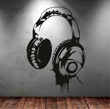 Headphones Music Dj Wall Stickers Art Design Wall Decal Available In Different Colors Wallpaper Decor Kids Bedroom Mural Mirror Wall Stickers Modern Wall Decal From Joystickers 11 04 Dhgate Com