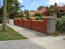 Classic Red Brick Fence With Capping Stone Coloured To Match House Brick Fence Red Brick House Fence Design