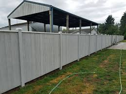 Vinyl Fence Installation Service Repair Near Everett All About Fence