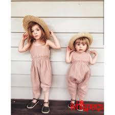 Áo hai dây liền quần dài màu trơn thời trang dành cho bé gái giảm chỉ còn  86,053 đ
