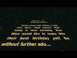 happy birthday from star wars