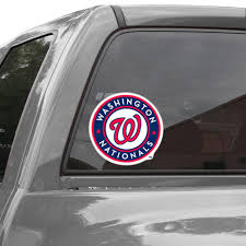 Wincraft Washington Nationals 8 X 8 Color Team Logo Car Decal Navy Blue Red