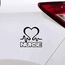 Amazon Com Vinysion Diy Car Stickers Car Styling Nurse Heart Car Window Decal Cardiac Love Emt Lpn Rn Work Car Sticker 11cm X 9 5cm Home Kitchen
