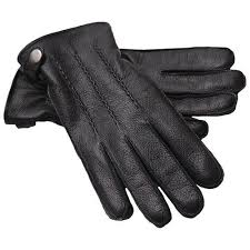 leather gloves genuine leather side
