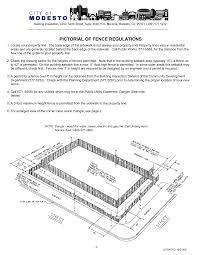 Https Www Modestogov Com Documentcenter View 1254 Fence Regulations Pdf