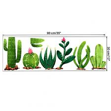 Wholesale Cactus Pattern Wall Sticker For Living Room Bedroom Kids Room Decoration C 30 90cm From China