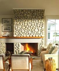 river stone fireplace designs rock
